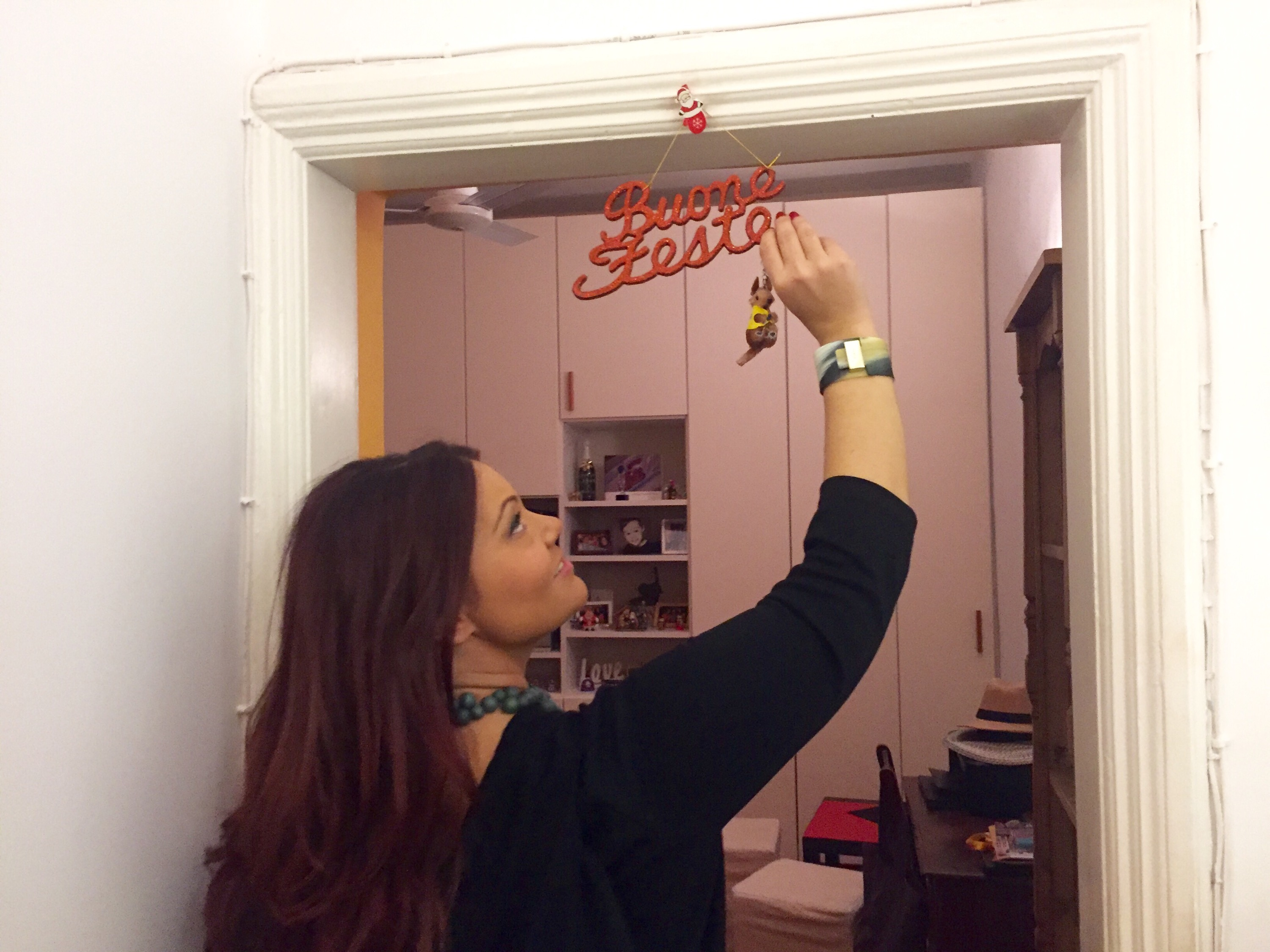 Putting up my annual Christmas decorations and saying Arrivederci Roma for 2015